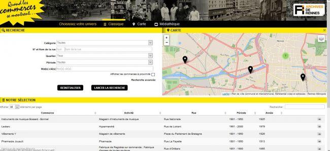 Les archives des commerces de la ville de Rennes