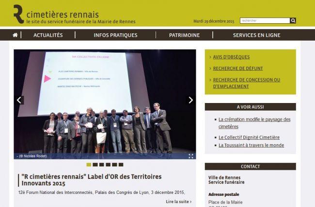 Bravo a Rennes métropole pour le label d'or au forum des interconnectés pour son site  Alkante