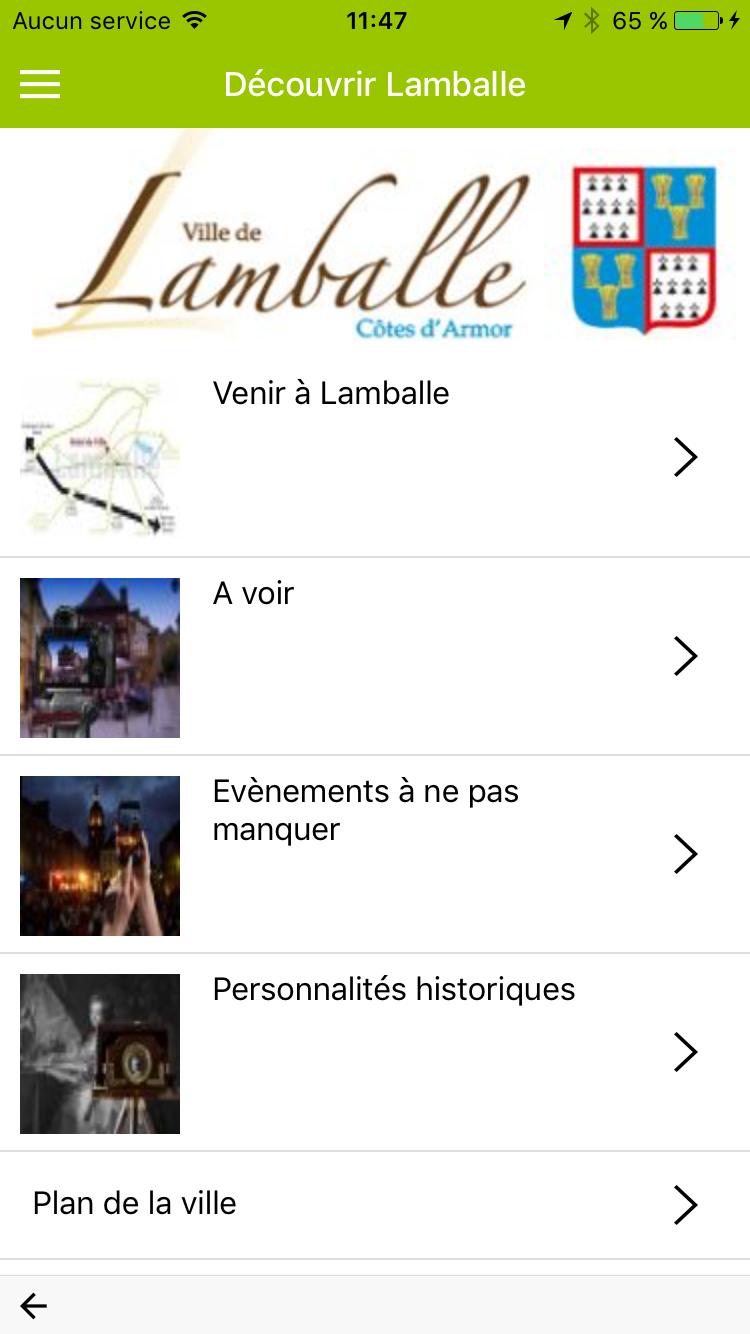 La ville de Lamballe a son appli : Mettez Lamballe dans votre poche